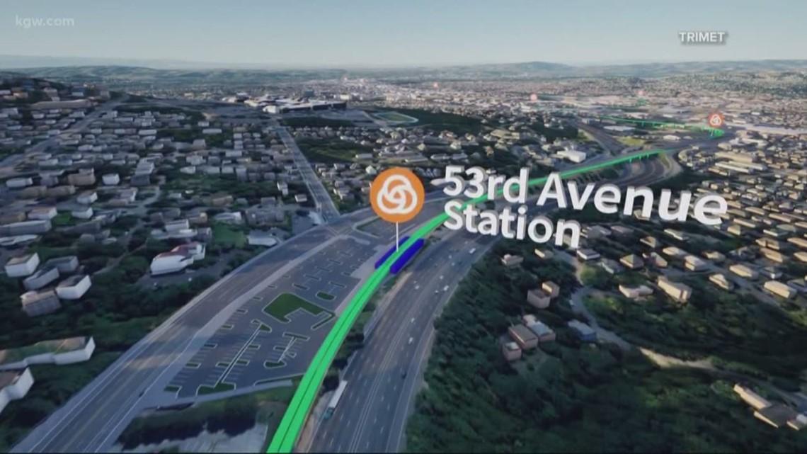 A bird's-eye view of TriMet's new light rail project