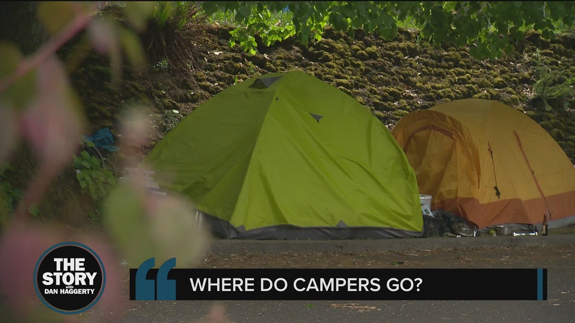 Where do houseless people in Portland go if their camps are swept?