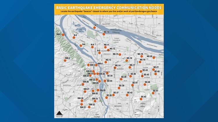 Earthquake meeting spots in Portland