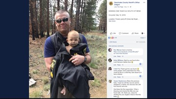 Baby found in woods of central Oregon had meth in his system, prosecutors say