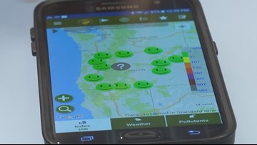 Is the air you're breathing safe? In Oregon, there is an app for that