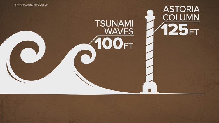 Tsunami wave possible height
