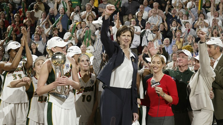 Anne Donovan led the Seattle Storm to a WNBA championship in 2004, becoming the first female coach and youngest person to win the title.