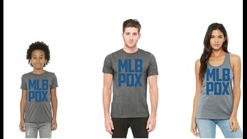 Portland Diamond Project selling gear promoting MLB to PDX