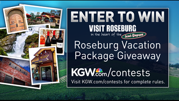 Roseburg getaway vacation package sweepstakes - enter for a