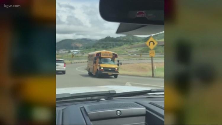 Roseburg bus driver makes u-turn on I-5 ramp