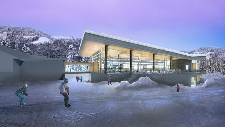 A rendering of a new resort at Mt. Hood Meadows