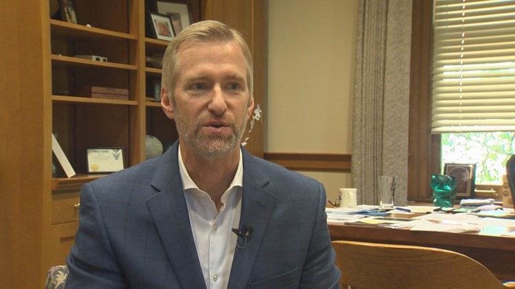 Portland Mayor Ted Wheeler's monthly press conference