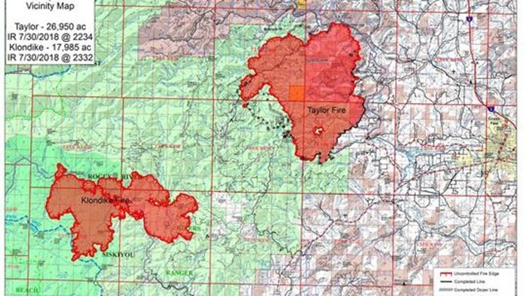 Southern Oregon Wildfires Taylor Creek Fire Grows To 30 000 Acres