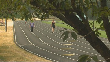 Despite poor air quality, runners hit the track to exercise