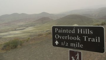 Wildfire threatens Oregon's iconic Painted Hills and John Day Fossil Beds