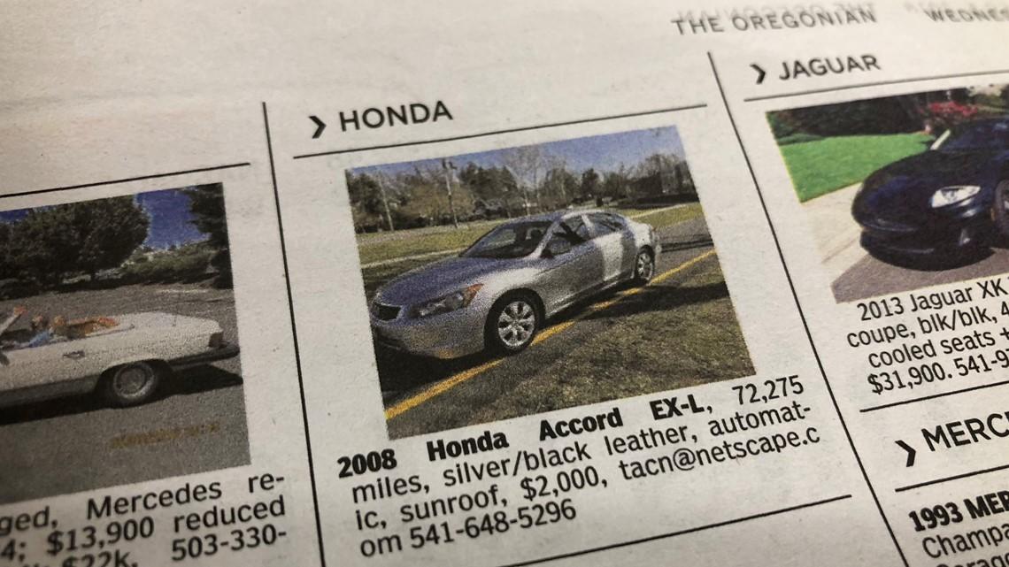 Car Scammers Appear In Oregon Newspaper Classifieds Again Kgwcom