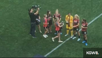 Thorns honor World Cup team members