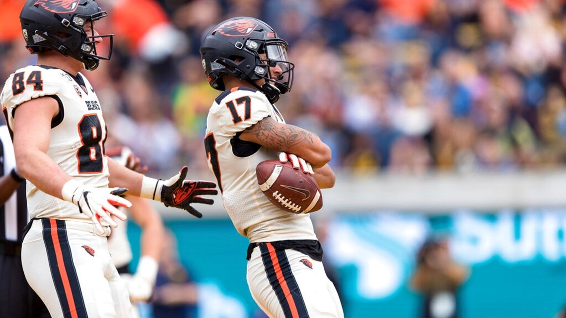 Late touchdown propels Oregon State to 21-17 win over Cal