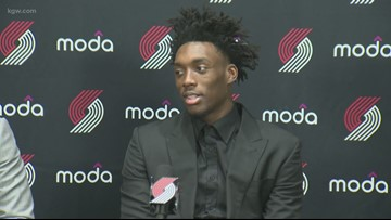 Blazers introduce draft pick Nassir Little