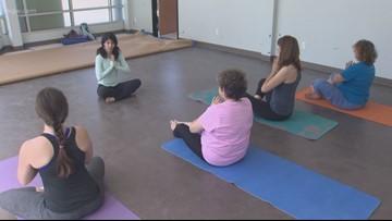 Domestic violence survivors heal through yoga
