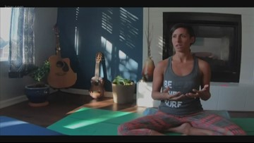 Coping with PTSD through yoga and ocean therapy