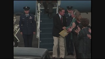 Archive 1992: President George H.W. Bush visits Medford to support Timber workers