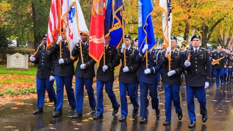 Veterans Day Parade at Fort Vancouver