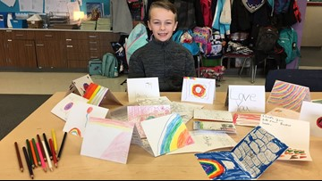 Washington boy collects nearly 1,000 cards with uplifting messages for hospitalized kids