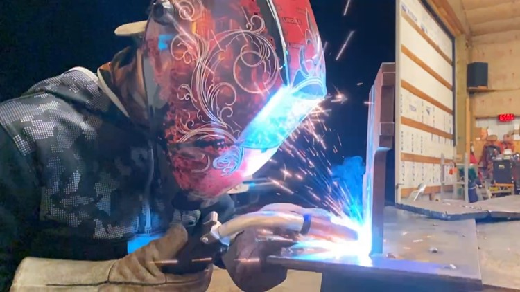Laid off Estacada metal shop teacher continues teaching welding classes at home