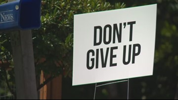 """Don't Give Up"" signs placed around Longview offer encouragement"