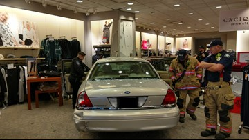 Driver crashes through Gresham retail store; no one hurt