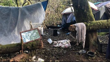 Amid rise in homelessness, Astoria passes camping ban in its forests