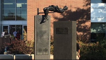 Statue at Oregon State forever immortalizes 'Fosbury Flop'