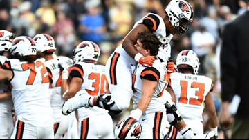 Oregon State rallies past Colorado 41-34 in overtime