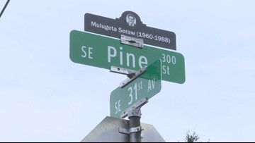 Signs in SE Portland honor Ethiopian man murdered by white supremacists 30 years ago