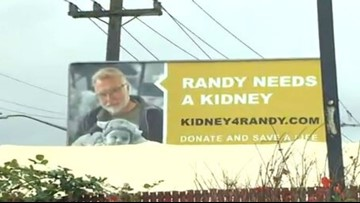 Roadside billboards plead for kidney donation for dying father