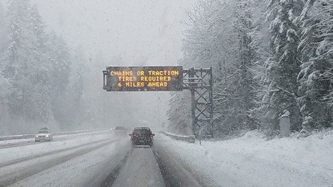 A foot of snow could fall on Cascade passes this holiday weekend