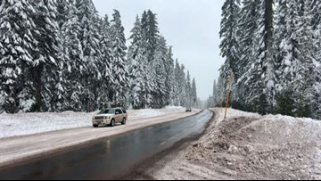 Snow expected in Cascade passes Thanksgiving night, Friday