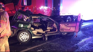 Woman injured in 4-vehicle crash that closed I-84