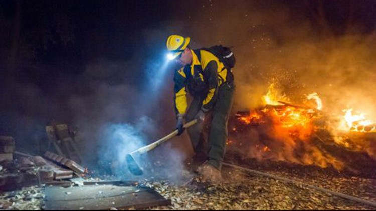 Camp Fire: Oregon firefighters search for victims, help protect remaining homes