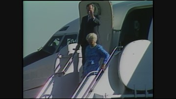 Archive 1988: President George H.W. Bush visits Seattle and Portland