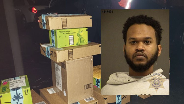 Bait package on porch nabs Amazon delivery driver in Washington County