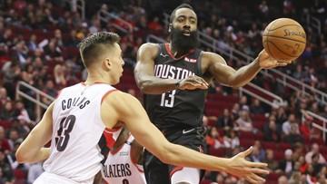 Harden scores 29 to lead Rockets past Blazers 111-103