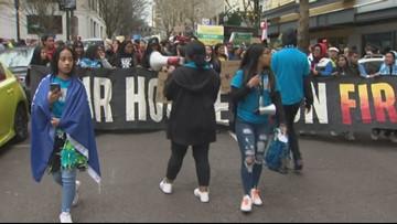 Portland students lead climate strike