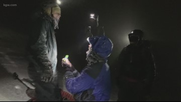 Portland couple gets engaged on icy Mount Hood climb: 'He just asked me to marry him. What?'