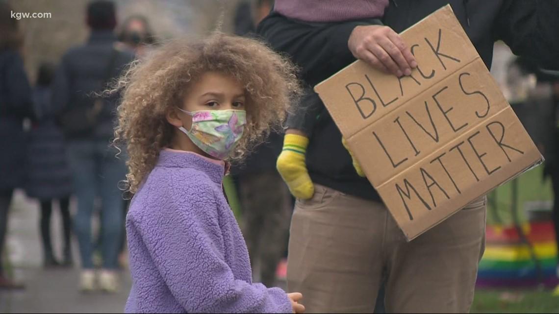 Woodlawn 5th graders hold a Black Lives Matter car parade