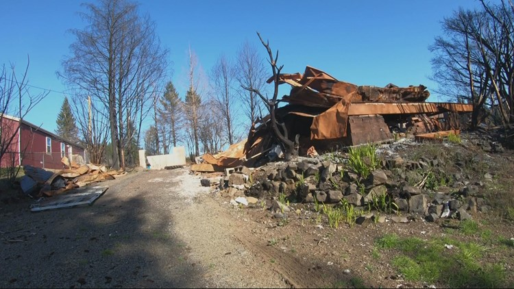 Otis couple helping others rebuild after losing their own home in wildfire