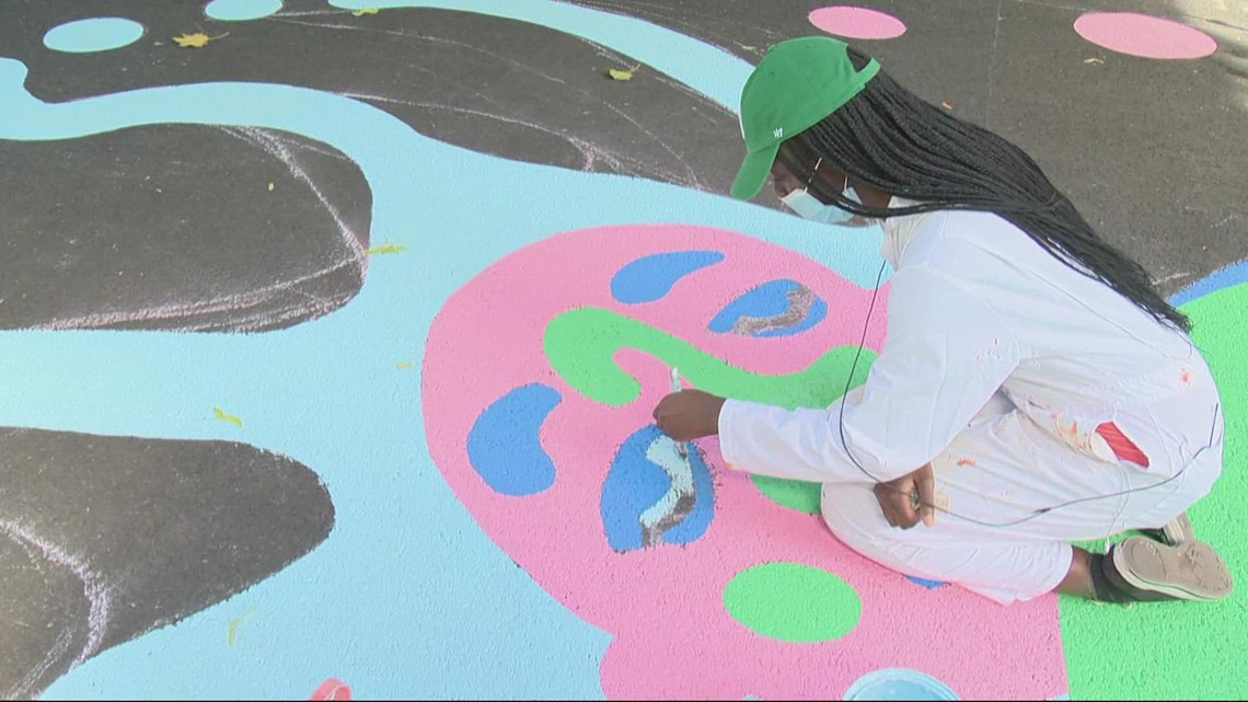 PSU students design mural