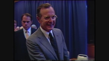 Archive video: Vice President George H.W. Bush visits Oregon in 1982