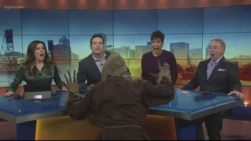 Watch the KGW Sunrise Crew get SUPER SCARED on Halloween!