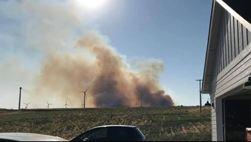 Juniper Fire in  Klickitat County 40 percent contained