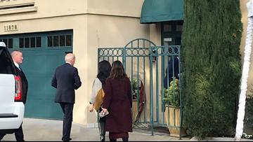 Presidential candidate Joe Biden arrives in Portland for private fundraiser