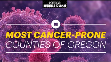 The Oregon counties with the highest cancer rates