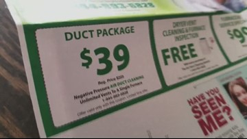 Oregon AG files lawsuit, claims air duct cleaning companies mailed deceptive ads